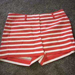 Ann Taylor orange and white stripped shorts
